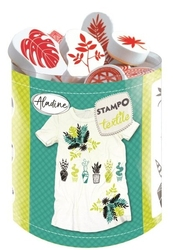 Stempelki do tkanin, koszulek rośliny
