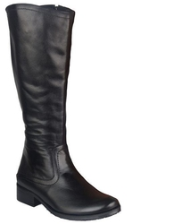 Obuwie kozaki damskie oficerki skóra naturalna czarne 689 elitabut