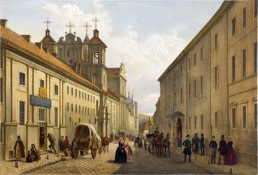 Reprodukcja street in vilnius in 19th century, zygmunt vogel