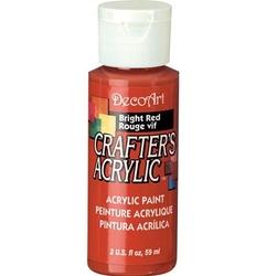 Farba akrylowa Crafters Acrylic 59 ml - czerwony jasny - CZEJAS