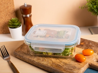 Pojemnik żaroodporny do mikrofali i piekarnika  do przechowywania z pokrywą i wentylem altom design vega prostokątny 0,65 l