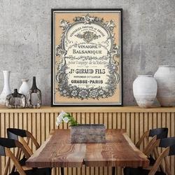 Vintage parfums label - plakat typograficzny , wymiary - 20cm x 30cm, ramka - biała