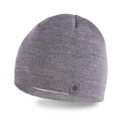 Modna jasnoszara męska zimowa czapka pamami 14001