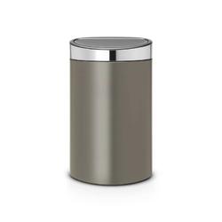 Brabantia - kosz touch bin 40 l - wiaderko plastikowe - platynowypokrywa stal matowa - platynowy || stal polerowana