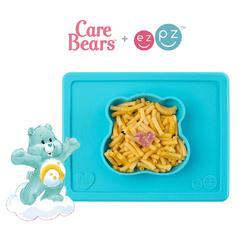 EZPZ Silikonowa miseczka z podkładką 2w1 Care Bears™ Bowl Misia Życzliwe Serce Wish Bear turkusowa