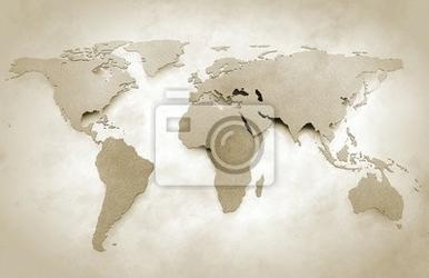 Fototapeta mapa świata archiwalne