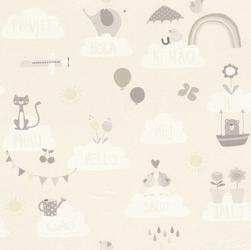 Tapeta chmurki i zwierzątka 249446 bambino