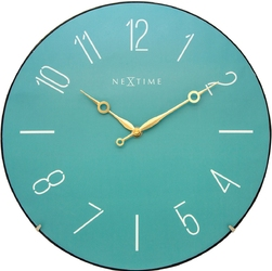 Zegar ścienny trendy dome nextime 35 cm, turkusowy 3158 tq