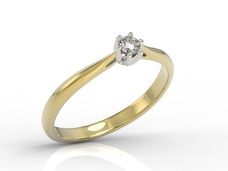 Pierścionek z żółtego i białego złota z białym szafirem ap-6610zb - żółte i białe  szafir white
