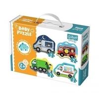 Trefl baby classic 36071 grube puzzle pojazdy