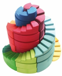 Spirala podwójna 56-el. 1+, tęczowa, Grimms