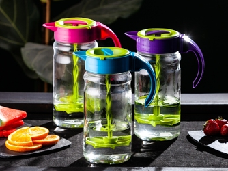 Dzbanek do zimnych napojów szklany z mieszadłem altom design 1,8 l – mix kolorów
