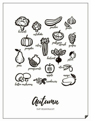 Plakat Autumn - Eat Seasonally 30 X 40 cm