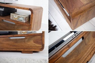 Elegancka szafka rtv goa z drewna palisandrowego