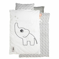 Pościel dla dziecka Dots 100 x 135 cm biała