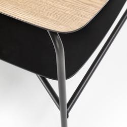 Stolik genua rtv1 w stylu industrialnym z półką