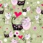 Fototapeta tekstury z miłośników kotów