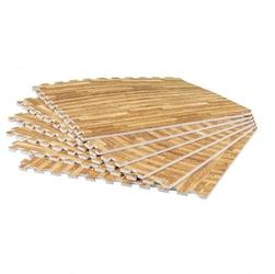 Zestaw mat ochronnych 8 sztuk, wzór drewna