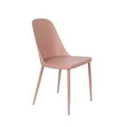 Krzesło do jadalni pasto różowe
