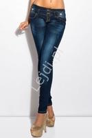 Jeansy biodrówki z ozdobnymi kokardkami  600-77