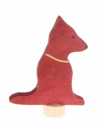 Drewniana figurka, Siedzący Piesek, Grimms