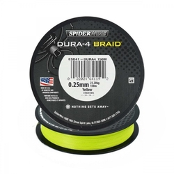 Plecionka spiderwire dura 4 yellow 150m 0,20mm