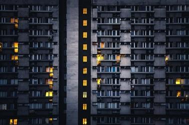 Warszawa wieżowce sen o mieście - plakat premium wymiar do wyboru: 70x50 cm