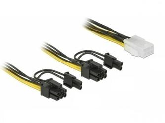 Delock kabel rozdzielacz zasilania pci express 6pin2x pci express   8pin 15cm