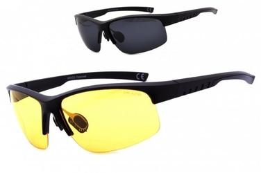 Okulary z dwoma soczewkami polaryzacyjnymi czarna i żółta - drs-55c2