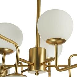 Duży żyrandol 12 szklanych kul na złotej podstawie erich maytoni modern mod221-pl-12-g