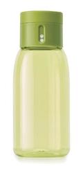 Jj - butelka na wodę dot, 400ml, zielona - zielony || przezroczysty