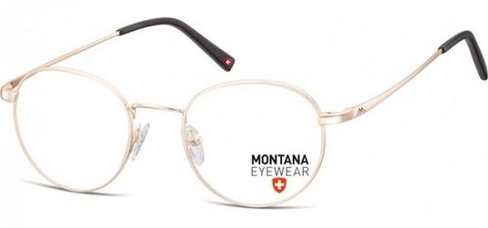 Zlote lenonki okragle oprawki optyczne, korekcyjne montana mm609a
