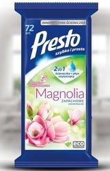 Presto, clean,  magnolia, uniwersalne chusteczki do czyszczenia, 72  sztuki