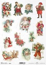 Papier ryżowy ITD A4 R1022 Boże Narodzenie