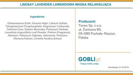 Linsday lavender, lawendowa maska relaksująca do twarzy 28g
