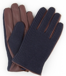 Eleganckie męskie rękawiczki profuomo z wełny i z jagnięcej skóry 9,5