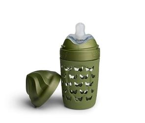 Herobility - butelka antykolkowa heroecobottle - oliwkowa, 220 ml - oliwkowy  220 ml