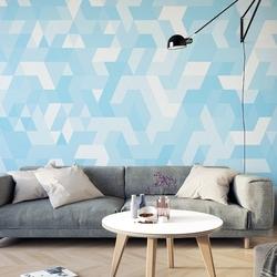Sky-blue triangle - tapeta ścienna , rodzaj - tapeta flizelinowa