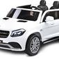 Mercedes gls63 biały samochód na akumulator dla dużego dziecka