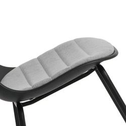 Nowoczesne krzesło kawiarniane z tapicerowanym siedziskiem layer