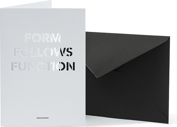 Kartka z kopertą Architects Quotes Form Follows Function