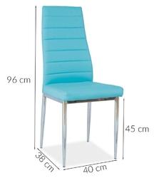 Krzesło tapicerowane do jadalni tulla ekoskóra