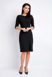Czarna sukienka midi dopasowana ołówkowa