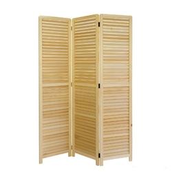 Parawan drewniany 3-częściowy w kolorze drewna naturalnego