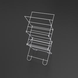 Suszarka na pranie stojąca brodzikowa metpol bocian, biała