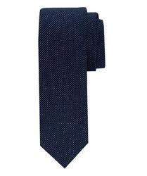 Granatowy krawat profuomo w delikatne kropeczki