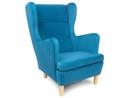 Wysyłka w 48h niebieski fotel skandica lars