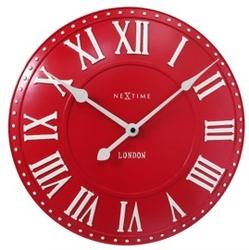 Nextime :: zegar ścienny london roman czerwony ø34,5cm
