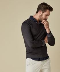 Pullover v-neck grafit s