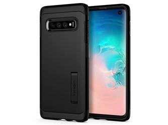 Etui spigen tough armor do samsung galaxy s10 black + folia neo flex - czarny